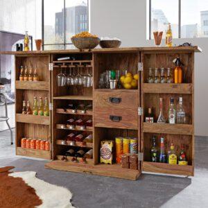 Bar Container aus Massivholz