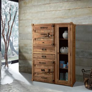 Highboard Container aus Shishsam Holz